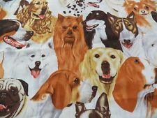 """Vintage 1998 Alexander Henry """"DOG SHOW"""" Fabric 1.5 yds~Cotton Sewing Quilting"""