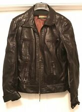 BIBA Genuine Leather Black Ladies Jacket UK 12 US 8