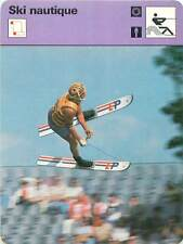 FICHE CARD: Slalom Saut Jump Figures Trick  Water skiing Ski nautique 1970s