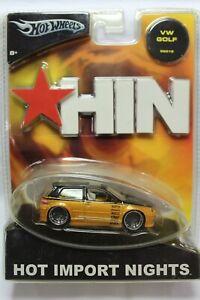 Hot Wheels Hot Import Nights Series VW GOLF (BLACK GOLD)
