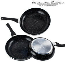 Lqb sartenes revestimiento piedra Black Stone pan (3 piezas)
