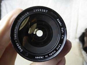 Takumar Super  28mm f3.5 Wide Angle Lens  Excellent    M42 Mount + filter + cap