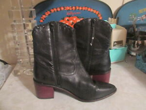SEYCHELLES BLACK  WESTERN BOOTS LEATHER 7.5 ANKLE