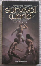 Survival World by Frank Belknap Long PB 1st Lancer - the messengers of death
