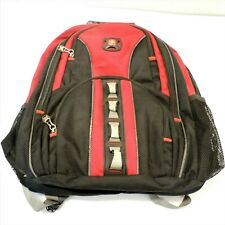 Swiss Gear Computer Backpack Shock Absorbing Black/Red Pockets for Other Things