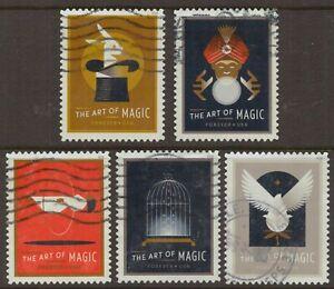 Scott #5301-05 Used Set of 5, The Art of Magic