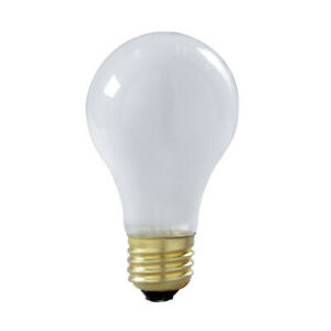 Satco S3928 75W 130V A19 Frost Shatter Proof E26 Base Incandescent - 2 bulbs