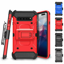 For Samsung Galaxy S10 S9 S8 Full-body Rugged Holster Heavy Duty Kickstand Case
