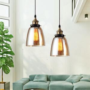 2X Glass Pendant Light Bar Ceiling Lights Kitchen Pendant Lighting Bedroom Lamp