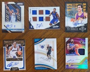 2000s NBA BASKETBALL AUTO/AUTOGRAPHED PATCH CARD LOT ANDRE DRUMMOND &MORE EXNMMT