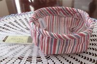 Longaberger Coaster Tote Liner Market Stripe New & Free Gift Bag