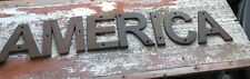 New listing Cast Iron America Sign Usa Trump 2020 American Flag United States July 4th