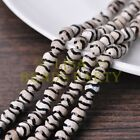 1 Strand 39cm Length 46~48pcs 8mm Natural Stone Gemstone Craft Beads Black&White