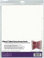 1 SET - Crafters Companion EZ Mount Stamp N Stor TABBED Storage Panels 8.5x11
