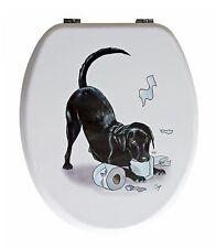 Looprints Black Labrador Puppy Loo Roll Novelty Toilet Seat LPJ301