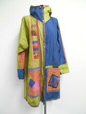 Vibrant Catherine SINTÈS waterproof coat/anorak, multicolour, hood M UK12/14