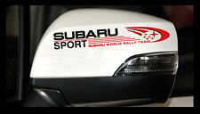 A Pair SUBARU SPORT Rally outback forester XV STI Impreza WRX Car Mirror Sticker