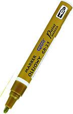 Gold Paint Marker Oil Based Waterproof Pen Wood Glass Plastic Tyre Rubber  G