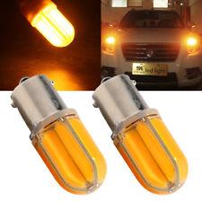 2Pcs Amber 1156 BA15S COB 48 SMD Silica Car Bulb Led 12V 24V Turn Signal Lights