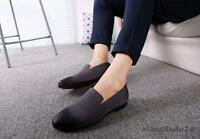 retro korean Mens Oxford Pointy toe Slip on Loafers Dress Casual Driving shoes