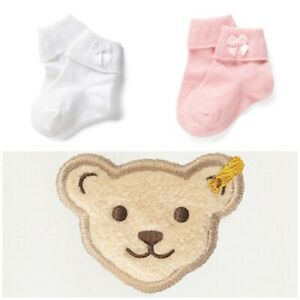Steiff Socken Söckchen mit Umschlag + Satinschleife  Mädchen Gr. 31-34   NEU