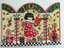 Mary Engelbreit Ceramic Plaster Tri-Fold Christmas Joy Toys Me Hinged Plaque
