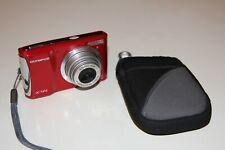 OLYMPUS X-44 14 Megapixel 5 x Zoom Digital Compact Camera Bright Red