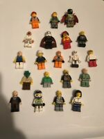 20 Random LEGO MINIFIG PEOPLE LOT grab bag of minifigure guys city town set Star