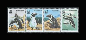 Namibia, Sc #821-24, MNH, 1997, WWF, Penquins, A5AII-9