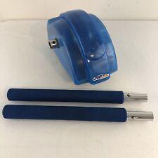 Ab Slide Slider Blue Abdominal Roller Exercise Wheel with Long Arm handles