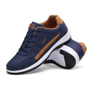 Men Shoes Leather Luxury Brand England Trend Casual Shoes Men Sneakers Italian