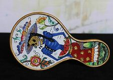 Catrina Day of the Dead Hand Mirror Reverse Painting on Glass Hand Made Peru