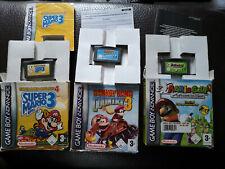 Lot 3 Jeux Gameboy Advance GBA + Boite - Super Mario 4 + Golf + Donkey Kong 3
