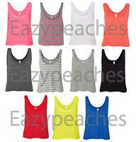 Bella Maxine NEW Ladies Size S M L/XL Flowy Boxy Cropped Tank Top T-Shirt 8880