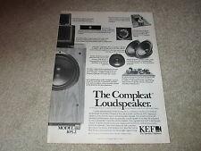 KEF 105.2 Speaker Ad, 1983, Reference! 1 pg, Articles