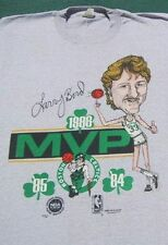 vintage LARRY BIRD 1986 MVP caricature SMALL T-SHIRT vtg boston celtics
