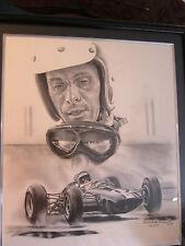 JIM CLARK F1 FORMULA ONE 1965 INDY 500 WINNER PAINTING  ROBERT STEPHEN SIMON