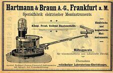 Hartmann & Braun A.G. Frankfurt a.M. STRUMENTI DI MISURA ELETTRICI pubblicità con loghi v.1907