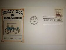GAMM 1890's SURREY COIL SWINDALL #10/10 HAND PAINTED HP FIRST DAY COVER FDC