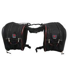 Universal Black Motorcycle Saddle Bag For Harley Yamaha Honda A Pair