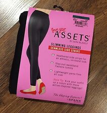 Spanx love your assets..slimming leggings..seamless side stripe black size XL