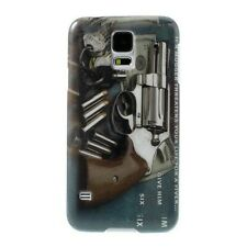 Hardcase Samsung Galaxy S5 / GT-I9600 Case Back Cover Schale Vintage Pistole