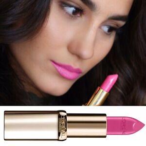 L'oreal Rose Bubblegum Pink Lipstick Color Riche Satin Rose Royale 134