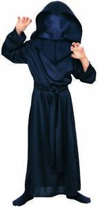 Kids Hidden Face Robe Costume Halloween Concept Rubies 881054 Medium Large Black