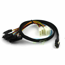 Mini SAS SFF-8087 36pin Male to 4 SFF-8482 29pin Female SATA Power Date Cable 1M
