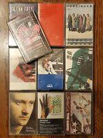 70's 80's Rock Cassette Lot Of 10 Elton John Foreigner Paul McCartney Genesis