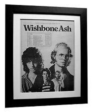 WISHBONE ASH+TOUR+POSTER+AD+ORIGINAL 1977+TOP QUALITY FRAMED+EXPRESS GLOBAL SHIP