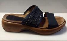 Dansko Womens Leather Double Strap Blue Sandals Sz EU 40