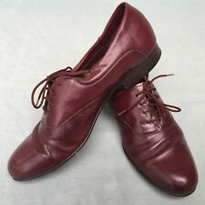 Jean Pier Clemente Mens Leather Dress Shoes Made In Brazil Burgundy Size 9.5 D