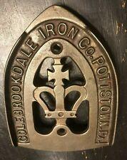 VINTAGE ANTIQUE COLEBROOKDALE IRON CO. CAST IRON FLATIRON TRIVET